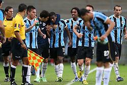 Fernando Martins © comemora seu gol contra o Santa Fé, da Colômbia, em partida válida pela Copa Libertadores da América 2013. FOTO: Jefferson Bernardes/Preview.com