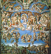 The Last Judgment painted by Michelangelo between 1536 and 1541