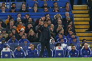 Chelsea manager Antonio Conte instructs his players from the touchline. <br /> Premier league match, Chelsea v Manchester United at Stamford Bridge in London on Sunday 5th November 2017.<br /> pic by Kieran Clarke, Andrew Orchard sports photography.