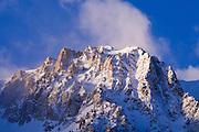 Winter dawn on Carson Peak, June Lake, California