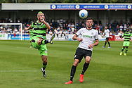 Forest Green Rovers Liam Noble (15) crosses the ball during the Vanarama National League match between Dover Athletic and Forest Green Rovers at Crabble Athletic Ground, Dover, United Kingdom on 10 September 2016. Photo by Shane Healey.