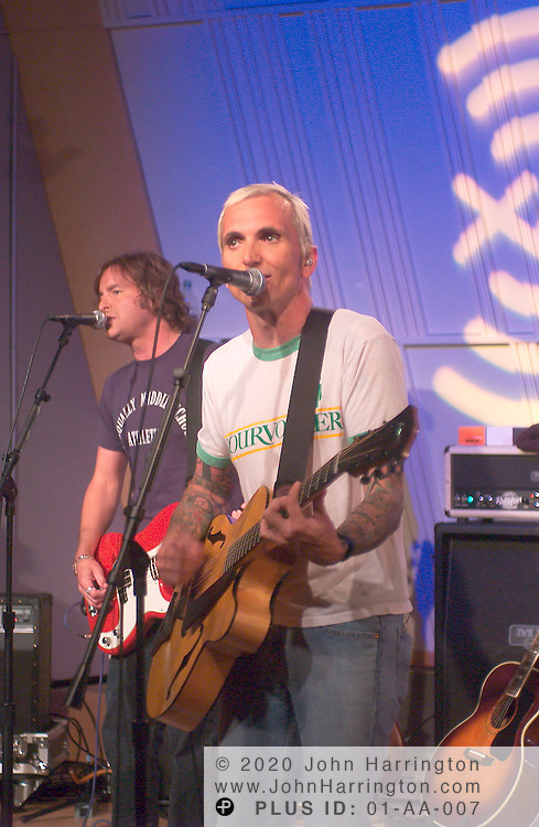 Art Alexakis, the singer/guitarist and songwriter of the rock band Everclear, preforms with his band at one of XM's Artist Confidential on Thursday August 19, 2004.
