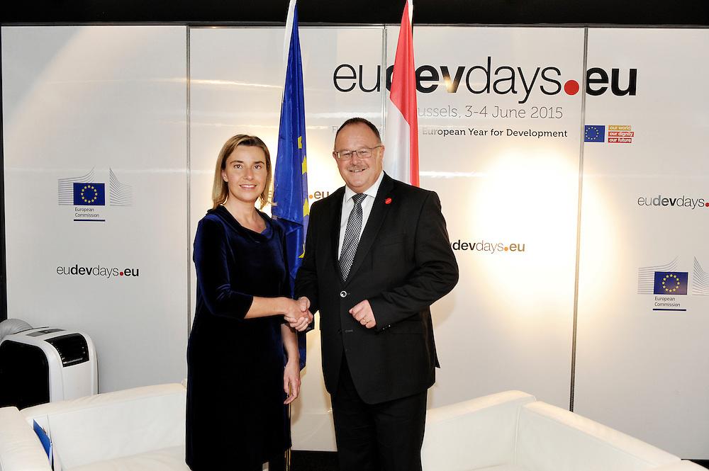 20150603- Brussels - Belgium - 03 June2015 - European Development Days - EDD  -  Mogherini and Schneider Luxembourg © EU/UE