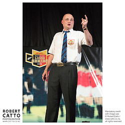 Al Murray / The Pub Landlord at the British & Irish Lions v. Auckland Blues Match at Eden Park, Auckland, New Zealand.<br />