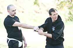 Monday 3rd Jan, 2011. Day four, SAvi Moyal, chairman of IKMF, takes students in the Maneuverable Driving seminar. Train & Travel is a unique ten day program designed for IKMF's instructors, students & guests, interested in combining Krav Maga training with a tour of the holy land. .©2011 Michael Schofield. All Rights Reserved.