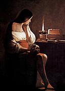 The Penitent Magdalene 1625-1650 by Georges de la Tour  March 13, (1593 - 1652) French painter