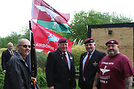 Paras arrive during the Soldier F Protest at Media City, Salford, United Kingdom on 18 May 2019.