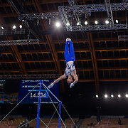 TOKYO, JAPAN - JULY 28: Daiki Hashimoto of Japan performs his routine on the Horizontal Bar during the Men's All Round competition at Ariake Gymnastics Centre at the Tokyo 2020 Summer Olympic Games on July 28, 2021 in Tokyo, Japan. (Photo by Tim Clayton/Corbis via Getty Images)