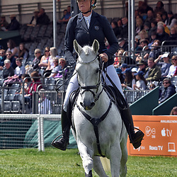 Isabel English Badminton Horse Trials Gloucester, England UK, 2019. Isabel English equestrian eventing representing Australia riding Feldale Mouse at the Badminton Horse trials Badminton Horse trials 2019 Winner Piggy French wins the title