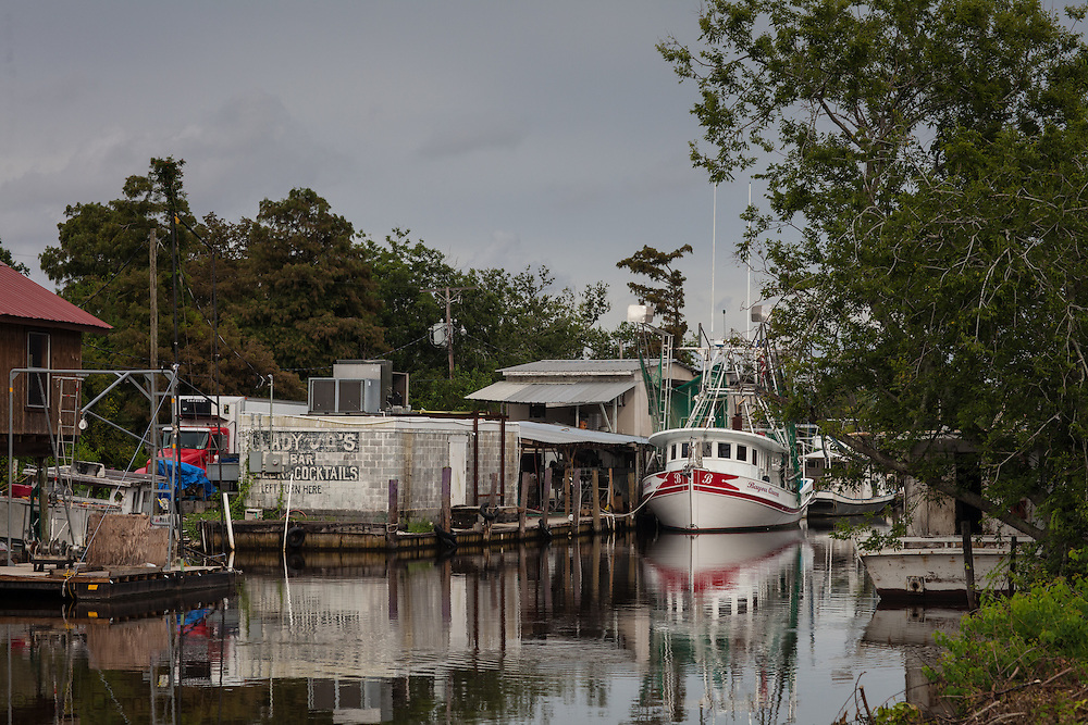 Shrinp boats docked on Bayou Pointe au Chien