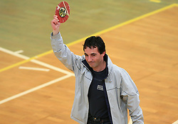 New Slovenian International Referee Anton Pevc at last final volleyball match of 1.DOL Radenska Classic between OK ACH Volley and Salonit Anhovo, on April 21, 2009, in Arena SGS Radovljica, Slovenia. ACH Volley won the match 3:0 and became Slovenian Champion. (Photo by Vid Ponikvar / Sportida)