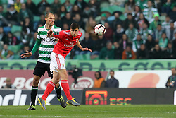 February 3, 2019 - Lisbon, PORTUGAL, Portugal - Bas Dost of Sporting (L) vies for the ball with Rúben Dias of SL Benfica (R) during the League NOS 2018/19 footballl match between Sporting CP vs SL Benfica. (Credit Image: © David Martins/SOPA Images via ZUMA Wire)