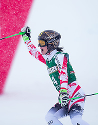 28.12.2014, Hohe Mut, Kühtai, AUT, FIS Ski Weltcup, Kühtai, Riesenslalom, Damen, 2. Durchgang, im Bild Anna Fenninger (AUT) // Anna Fenninger of Austria reacts after 2nd run of Ladies Giant Slalom of the Kuehtai FIS Ski Alpine World Cup at the Hohe Mut Course in Kuehtai, Austria on 2014/12/28. EXPA Pictures © 2014, PhotoCredit: EXPA/ JFK