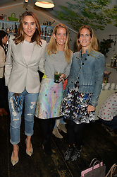 Left to right, ALEX MEYERS, CAROLINA GONZALEZ-BUNSTER and ADRIANA CHRYSSICOPOULOS at a ladies Valentine's Breakfast to launch the new healthy food menu at royal favourite restaurant Bumpkin, 119 Sydney Street, London on 14th February 2014.