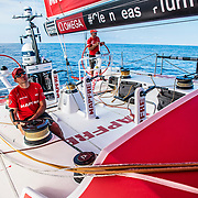 Leg 6 to Auckland, day 17 on board MAPFRE. 23 February, 2018.