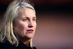 """File photo dated 05-05-2021 of Chelsea manager Emma Hayes. Chelsea Women manager Emma Hayes expects a """"tense atmosphere"""" when her side take on Juventus in Turin in the Women's Champions League on Wednesday. Issue date: Tuesday October 12, 2021."""