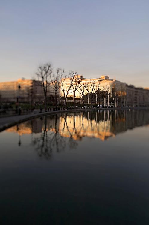 Canal Saint-Martin, Paris, Paris-Ile-de-France region, France.