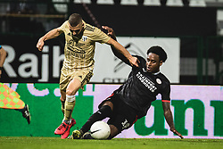 +p14+ and Nino Kouter of Mura during football match between NS Mura and PSV Eindhoven in Third Round of UEFA Europa League Qualifications, on September 24, 2020 in Stadium Fazanerija, Murska Sobota, Slovenia. Photo by Blaz Weindorfer / Sportida
