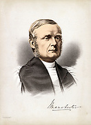 James Fraser (1818-1885) English churchman. Bishop of Manchester 1870-1885. Interested in the Church's approach to education and industrial relations. Advocate of the Co-operative Movement. Tinted lithograph c1880.
