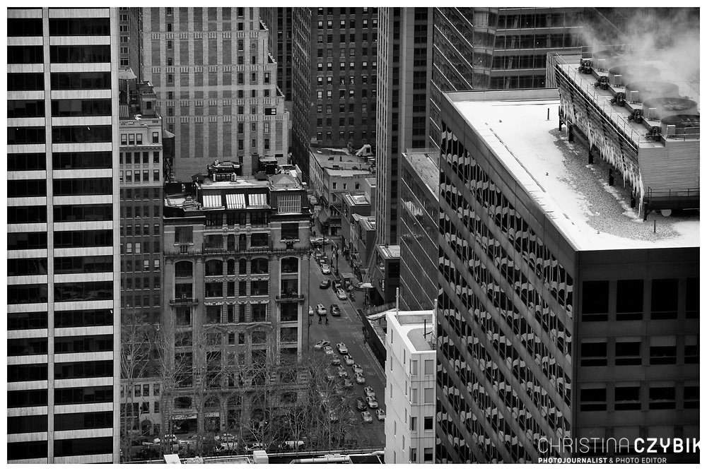 View from the Rockefeller Center Observation Deck Top of the Rock over Manhattan, New York