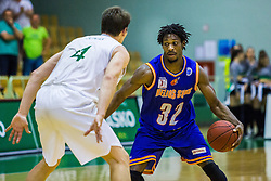 Hugh Gibson Robertson Junior of KK Helios Suns during basketball match between KK Zlatorog and KK Helios Suns in 1st match of Nova KBM Slovenian Champions League Final 2015/16 on May 29, 2016  in Dvorana Zlatorog, Lasko, Slovenia.  Photo by Ziga Zupan / Sportida