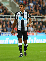 NEWCASTLE UPON TYNE, ENGLAND - SEPTEMBER 17: Isaac Hayden of Newcastle United during the Premier League match between Newcastle United and Leeds United at St. James Park on September 17, 2021 in Newcastle upon Tyne, England. (Photo by MB Media)
