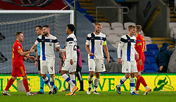 CARDIFF, WALES - Wednesday, November 18, 2020: Finland's Paulus Arajuuri lookd dejected after the UEFA Nations League Group Stage League B Group 4 match between Wales and Finland at the Cardiff City Stadium. Wales won 3-1 and finished top of Group 4, winning promotion to League A. (Pic by David Rawcliffe/Propaganda)