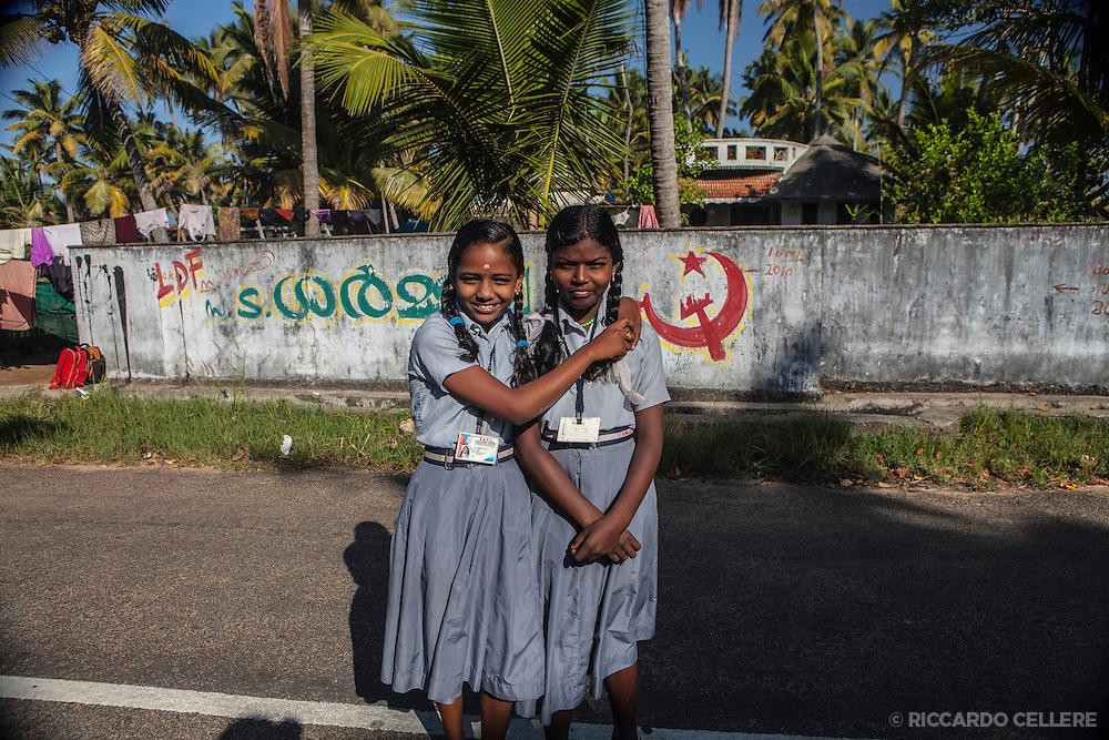 Schoolgirls in Kerala.