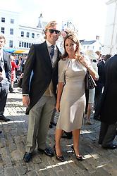 NATALIE PINKHAM and OWAIN WALBYOFF at the wedding of Lady Natasha Rufus Isaacs to Rupert Finch held at St.John The Baptist Church, Cirencester, Gloucestershire, UK on 8th June 2013.