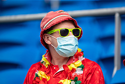 CARDIFF, WALES - Saturday, June 5, 2021: A Wales supporter during an International Friendly between Wales and Albania at the Cardiff City Stadium in their game before the UEFA Euro 2020 tournament. (Pic by David Rawcliffe/Propaganda)