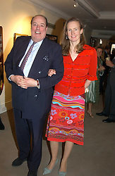 The HON.NICHOLAS SOAMES and his wife SERENA at auctioneers Sotheby's Summer party held at their showrooms in 34-35 New Bond Street, London W1 on 6th June 2005.<br /><br />NON EXCLUSIVE - WORLD RIGHTS