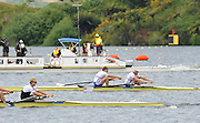 Hamilton, NEW ZEALAND. GBRM2-  Peter REED and Andy TRIGGS HODGE winning and celebrating the Silver medal in the Men's pair at the 2010 World Rowing Championships - Lake Karapiro.Saturday 06.11.2010.  [Mandatory Credit Peter Spurrier:Intersport Images].