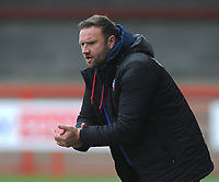 Football - 2020 / 2021 Sky Bet League Two - Crawley Town vs Bolton Wanderers - The People's Pension Stadium<br /> <br /> Bolton Manager, Ian Evatt on his way to getting promotion<br /> <br /> Credit : COLORSPORT/ANDRTEW COWIE
