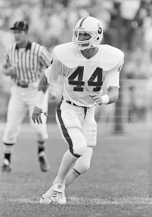 COLLEGE FOOTBALL: Stanford v Purdue, September 12, 1981 in Ross-Ade Stadium at Purdue Univeristy in West Lafayette, Indiana.  Pete St. Geme #44.  Photograph by David Madison   www.davidmadison.com.