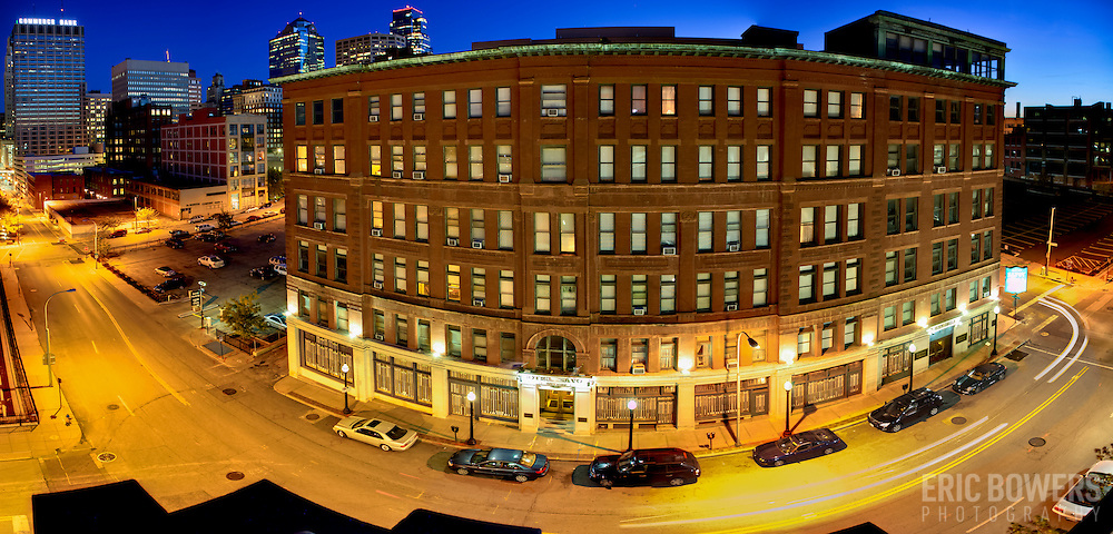 Panorama photo of the Savoy Hotel and Grill in October 2013 prior to renovation. Downtown Kansas City, MO.