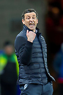 Sunderland AFC manager, Jack Ross shouts at his players during the EFL Sky Bet League 1 match between Sunderland AFC and Luton Town at the Stadium Of Light, Sunderland, England on 12 January 2019.
