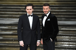 File photo dated 04/04/19 of David Beckham (right) and his son Brooklyn attending the global premiere of Netflix's 'Our Planet' at the Natural History Museum in Kensington, London. Brooklyn, the eldest son of David and Victoria, is celebrating his 21st birthday.