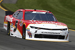 June 1, 2018 - Long Pond, Pennsylvania, United States of America - Michael Annett (5) brings his car through the turns during practice for the Pocono Green 250 at Pocono Raceway in Long Pond, Pennsylvania. (Credit Image: © Chris Owens Asp Inc/ASP via ZUMA Wire)