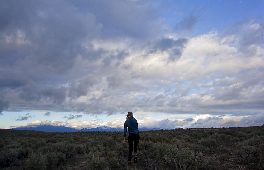 Self portrait taken in Ranchos De Taos, November 2012.