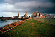 A desolated industrial landscape, Port of Rotterdam.