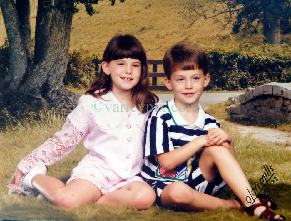 21 May 2015. Laurel, Mississippi.<br /> Collect photos of plus size model Tess Holliday (formerly known as Tess Munster, née Ryann Hoven) in her formative years from a family album. Tess and her brother Tad Hoven from 1992.<br /> Photo credit; Tadlock via Varleypix.com