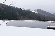 Easter in Southern Styria, Austria. Sausal in the snow.