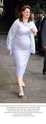 A heavily pregnant SARAH BROWN wife of chancellor Gordon Brown, at a reception in London on 16th June 2003.PKL 60