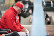 Angels Manager Mike Scioscia works on the lineup card before the Angels' Freeway Series game against the Dodgers Thursday night at Dodger Stadium.<br /> <br /> ///ADDITIONAL INFO:   <br /> <br /> freeway.0401.kjs  ---  Photo by KEVIN SULLIVAN / Orange County Register  --  3/31/16<br /> <br /> The Los Angeles Angels take on the Los Angeles Dodgers at Dodger Stadium during the Freeway Series Thursday.<br /> <br /> <br />  3/31/16