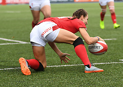 Wales Jasmine Joyce scores Wales First try<br /> Wales Women v South Africa Women<br /> Autumn International<br /> <br /> Photographer Mike Jones / Replay Images<br /> Cardiff Arms Park<br /> 10th November 2018<br /> <br /> World Copyright © 2018 Replay Images. All rights reserved. info@replayimages.co.uk - http://replayimages.co.uk