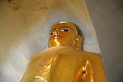 Myanmar Bagan Pagoda temple, golden Buddha