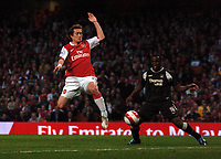 Photo: Tony Oudot.<br /> Arsenal v Manchester City. The Barclays Premiership. 17/04/2007.<br /> Tomas Rosicky of Arsenal scores the first goal