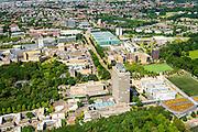 Nederland, Gelderland, Nijmegen, 09-06-2016; landgoed Heyendael, campus Radboud Universiteit Nijmegen met onder andere Huygensgebouw en Radboudumc.<br /> Heyendaal estate, Radboud University Nijmegen campus, Radboud University Medical Centre.<br /> <br /> luchtfoto (toeslag op standard tarieven);<br /> aerial photo (additional fee required);<br /> copyright foto/photo Siebe Swart