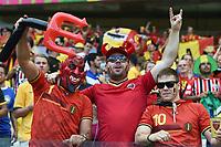 Tifosi Belgio Supporters<br /> Belo Horizonte (Brasile) 17-06-2014 Estadio Mineirao. Group H Belgium - Algeria / Belgio - Algeria Football 2014 Fifa World Cup Brazil - Campionato del Mondo di Calcio  Brasile 2014 <br /> Foto Insidefoto