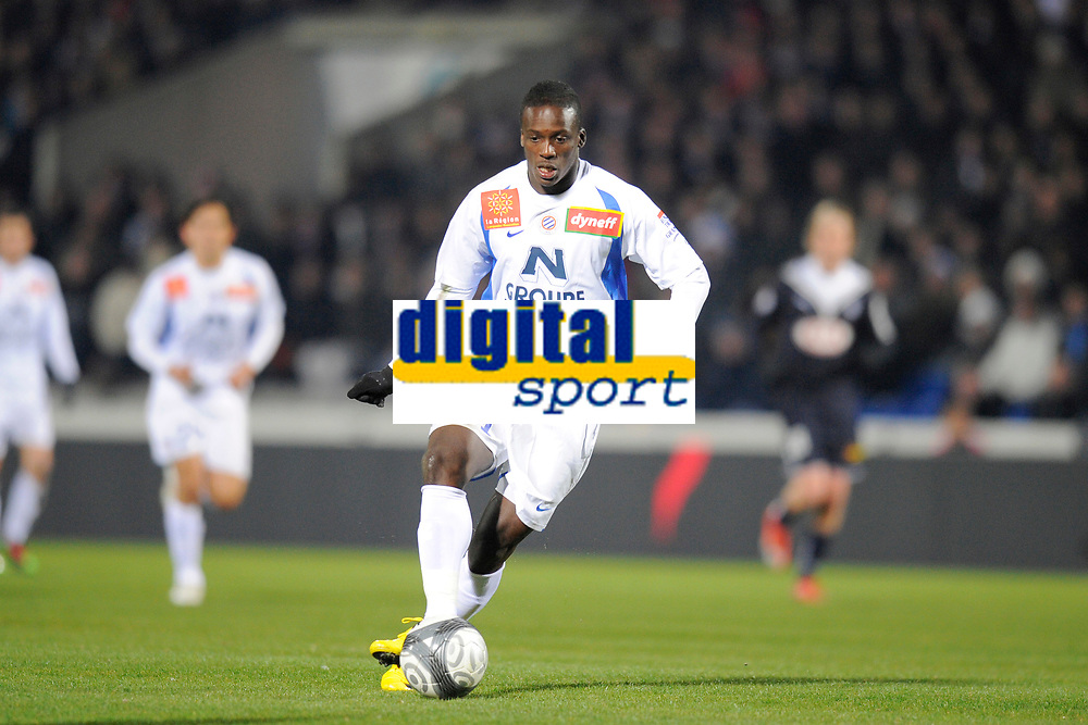 FOOTBALL - FRENCH CHAMPIONSHIP 2009/2010 - L1 - GIRONDINS BORDEAUX v MONTPELLIER HSC - 07/03/2010 - PHOTO JEAN MARIE HERVIO / DPPI - VICTOR MONTANO (MON)